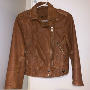 Bershka Cropped Leather Jacket